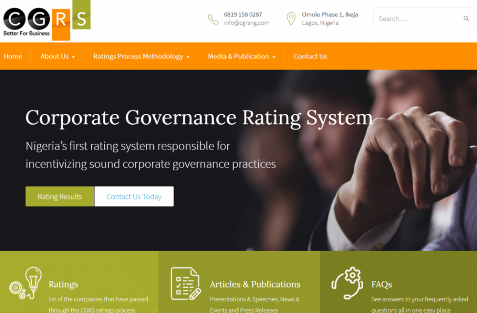 Corporate Governance Rating System